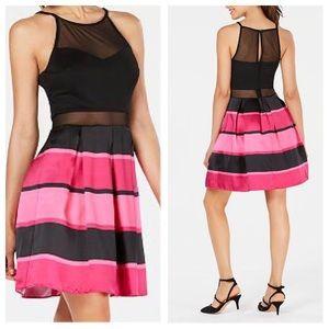 BCX Striped Social Dress